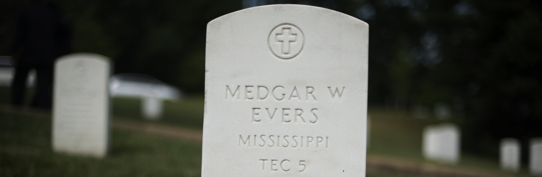 Medgar Evers gravestone in Arlington National Cemetery