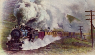 Union Pacific Railroad freight train painting