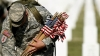 flag's in, american flag, memorial day, u.s. soldier, army, arlington national cemetery, gravesite, iraq war