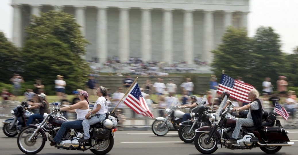 washington d.c., the lincoln memorial, rolling thunder, memorial day, memorial day weekend, veterans, POWs, MIAs