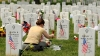 memorial day, flowers, gravesite, iraq war