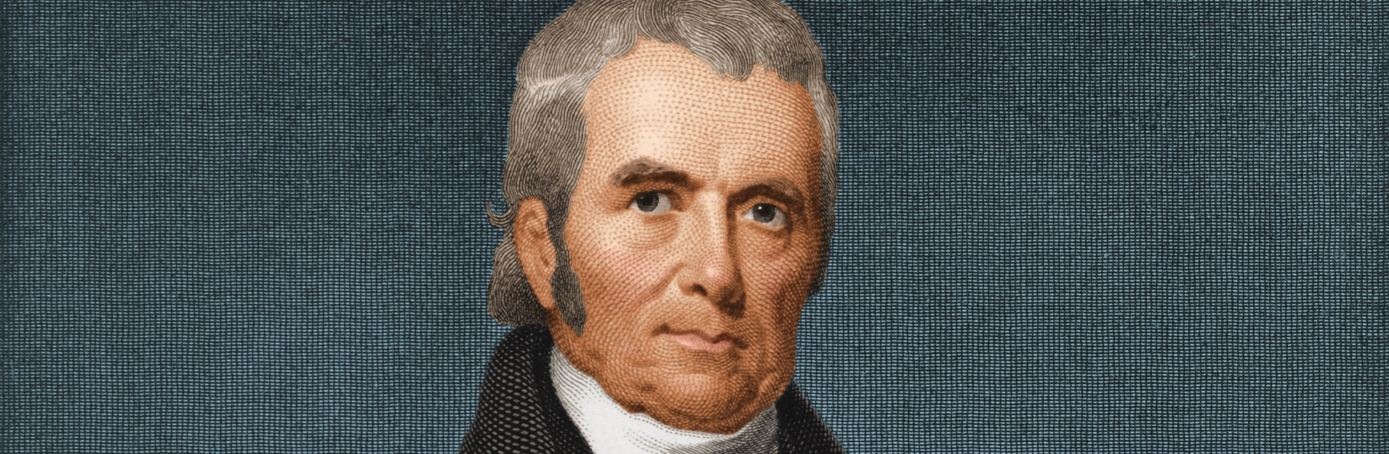 Engraved portrait of Chief Justice of the Supreme Court John Marshall