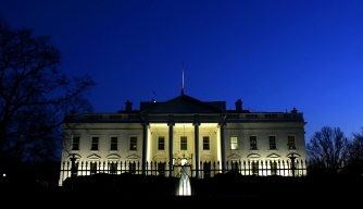 Late evening outside the White House