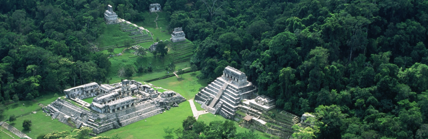 mexico timeline, aerial view palenque