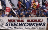steel workers, trade union protest, washington d.c., labor rights, labor day