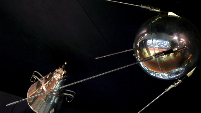 the soviet union, sputnik satellite, 1957, space exploration, the space race, the cold war
