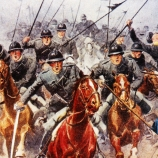 The Italian cavalry engaged after the rout of Caporetto
