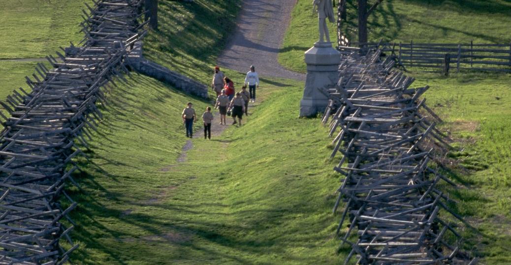 bloody lane, antietam battlefield, the civil war, sharpsburg, maryland,
