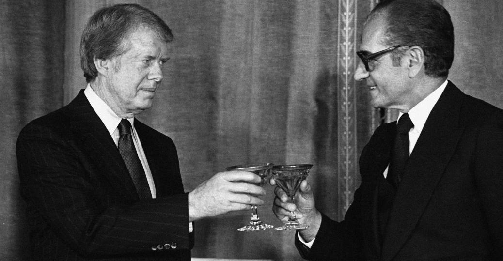 shah in iran, us embassy, tehran, president jimmy carter, 1978, tehran, iran, shah reza pahlavi, iran toast