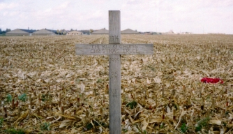 A cross to celebrate the site of the Christmas Truce during the First World War in 1914