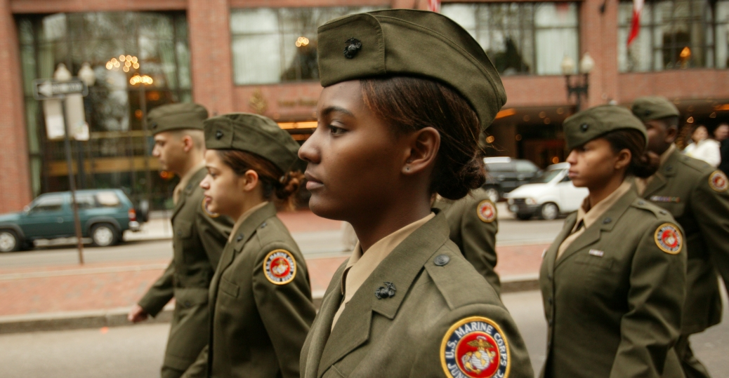 boston, massachusetts, veterans day, veterans day parade, soldiers, demonstration drills