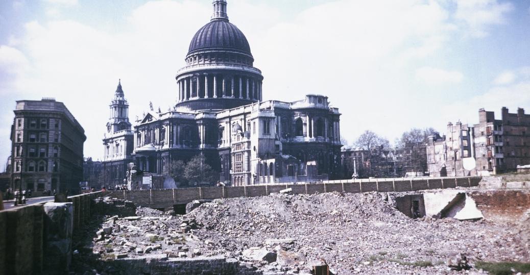 the blitz, london, german bombing, st. paul's cathedral, world war II, world war II destruction