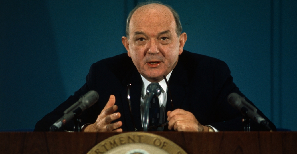 secretary of state, dean rusk, 1968, the paris talks, vietnam, the vietnam war