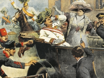 an analysis of the assassination of archduke francis ferdinand triggered world war i First world war centenary: the assassination of franz archduke franz ferdinand comments wryly on the fact that his the lie that started the first world war.