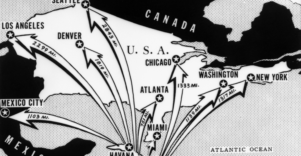 the cuban missile crisis, north america, cuba, the cold war