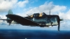1943, navy dive bombers, wake island, world war II, world war II aircraft