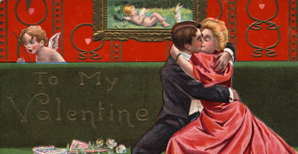 valentine's day, february 14th, postcard, 1909, valentine's day card