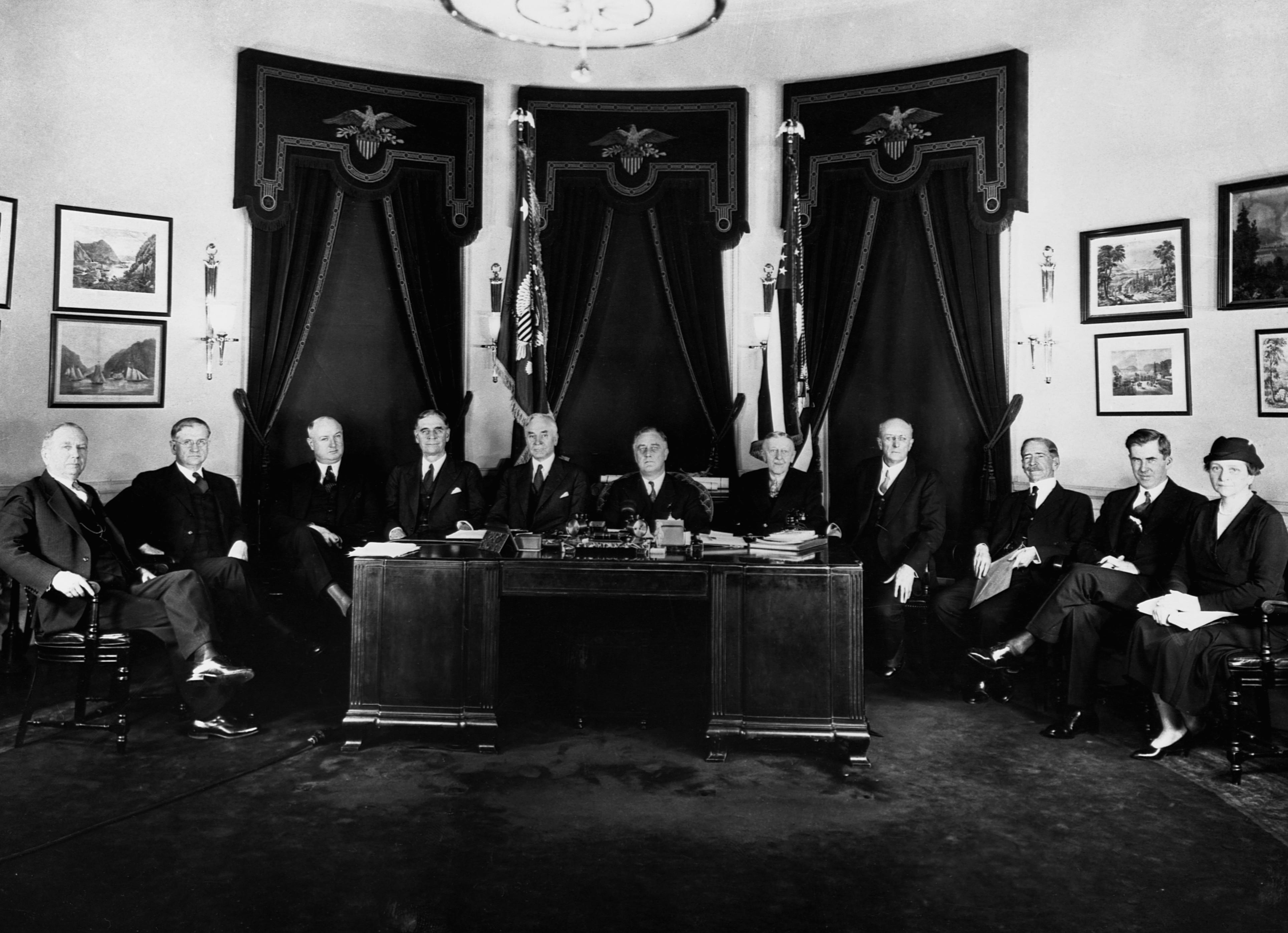 president-roosevelt-and-his-first-cabinet - Franklin D. Roosevelt ...