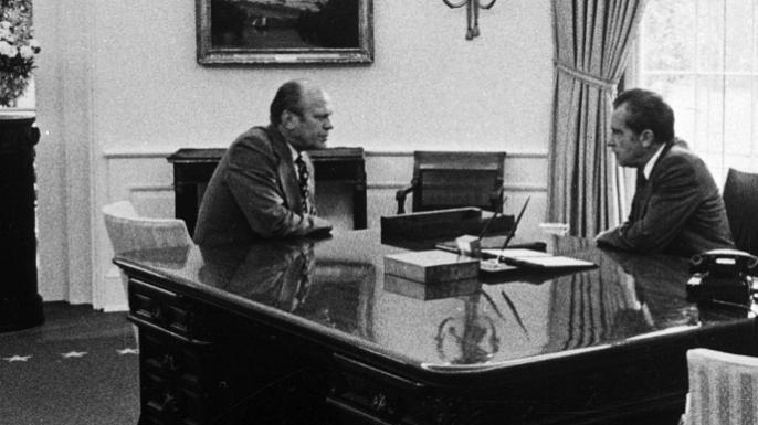 1974, nixon, the watergate burglary scandal, impeachment, gerald ford