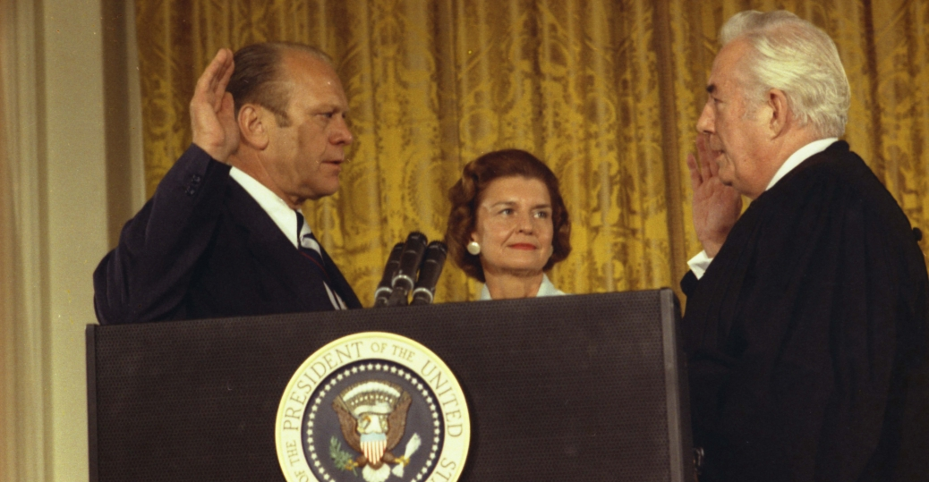 august 9 1974, oath of office, gerald ford, nixon's resignation