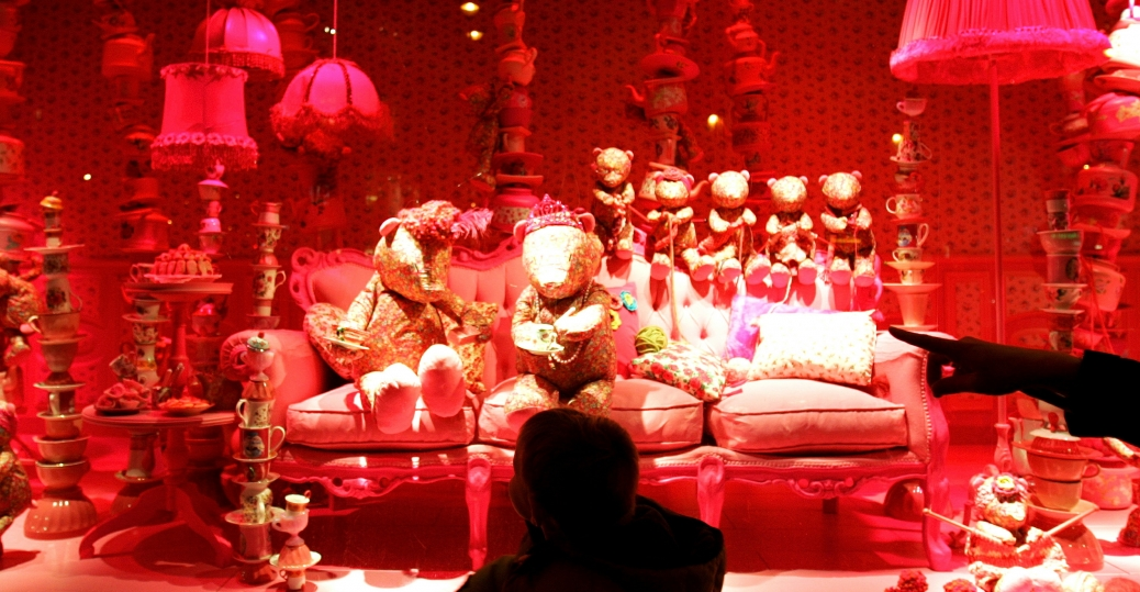 paris, france, holiday toys, department store window, christmas, holiday, decorations