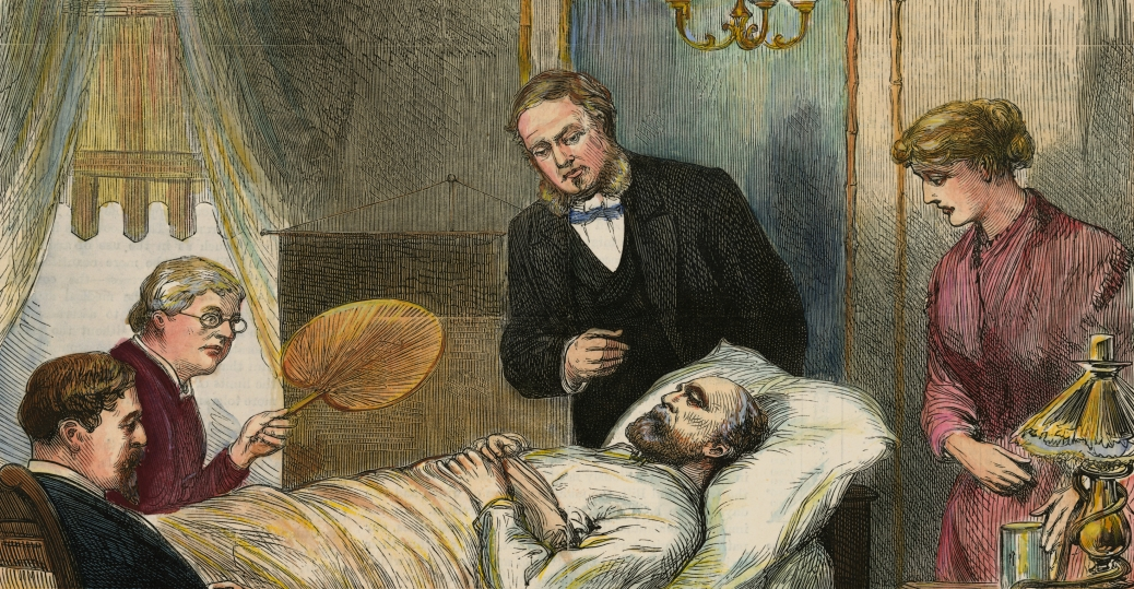 president garfield, james garfield, deathbed