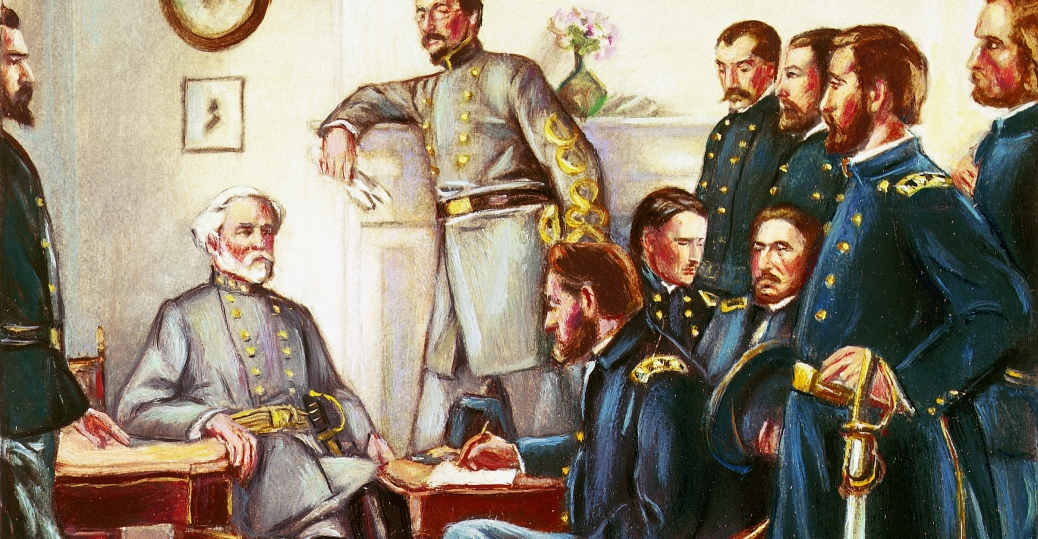 1865, appomattox court house, virginia, general lee, ulysses s. grant, general grant