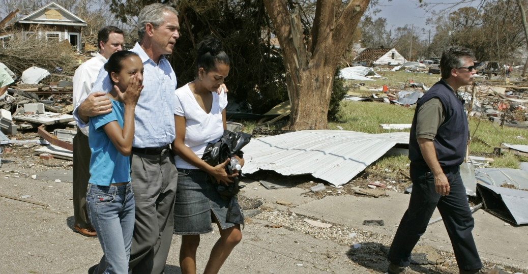 hurricane katrina, louisiana, mississippi, george w. bush, katrina's destruction