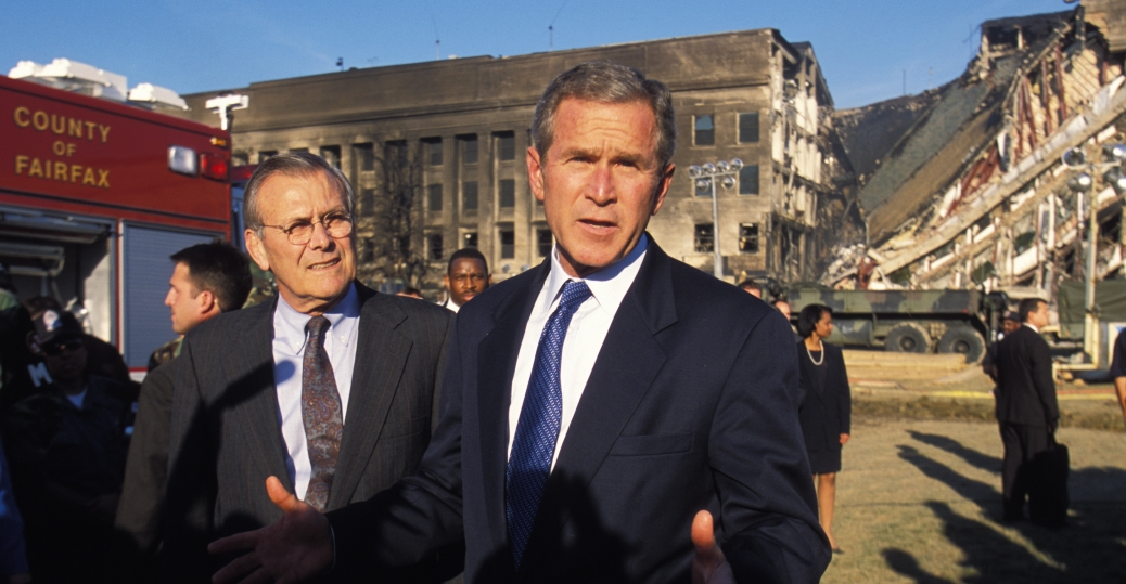 the pentagon, september 11 terrorist attacks, 9/11, george w. bush