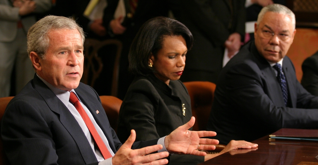 secretary of states, colin powell, condoleezza rice, george w. bush