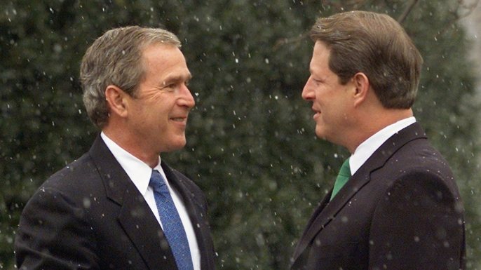 2000 presidential election, george w. bush, al gore, the supreme court, recount