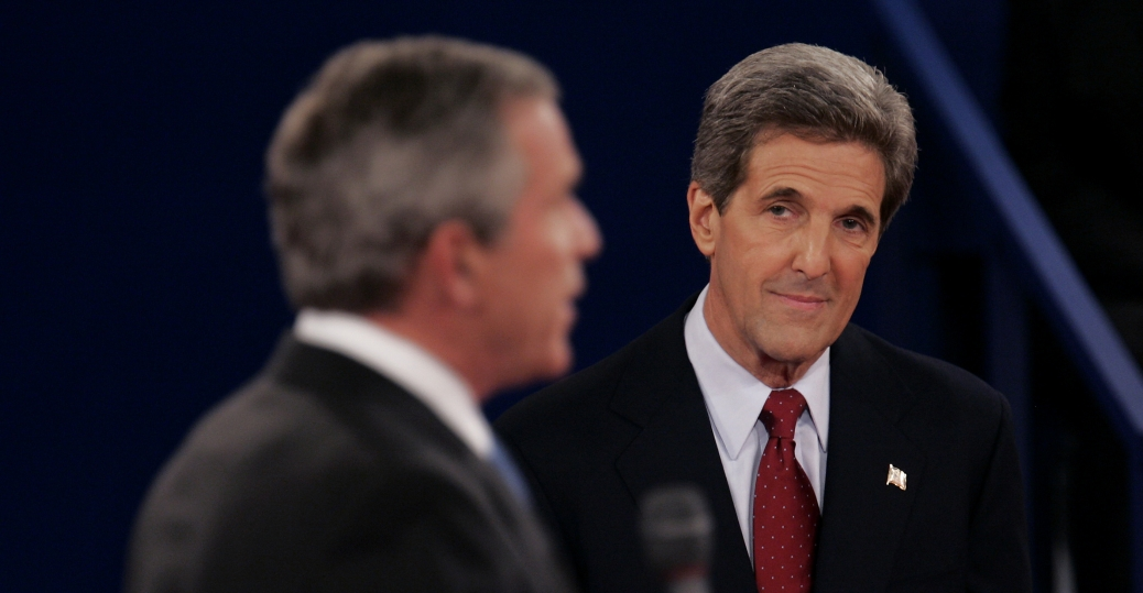 senator john kerry, george w. bush, 2004 presidential election