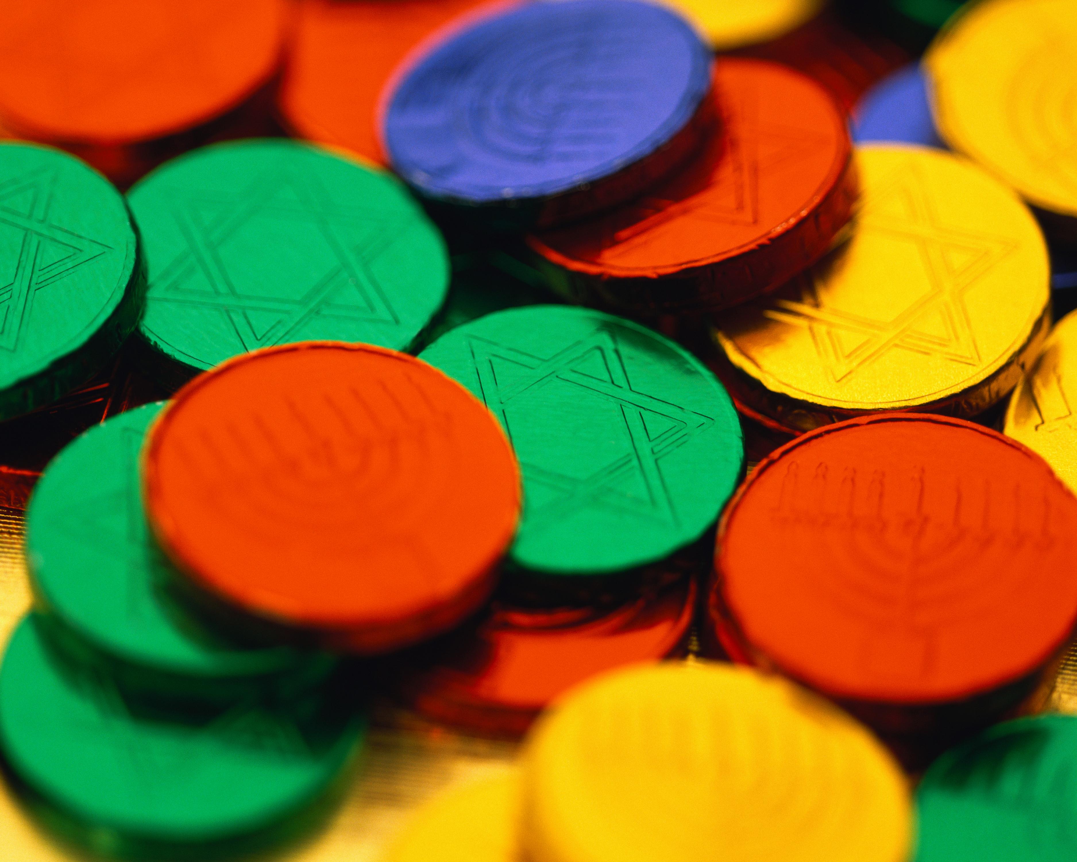 colorful-hanukkah-chocolate-coins - Hanukkah Pictures - Hanukkah ...