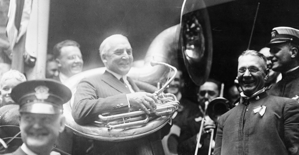 marion, ohio, president harding, warren g. harding, 1920 republican party, the tuba