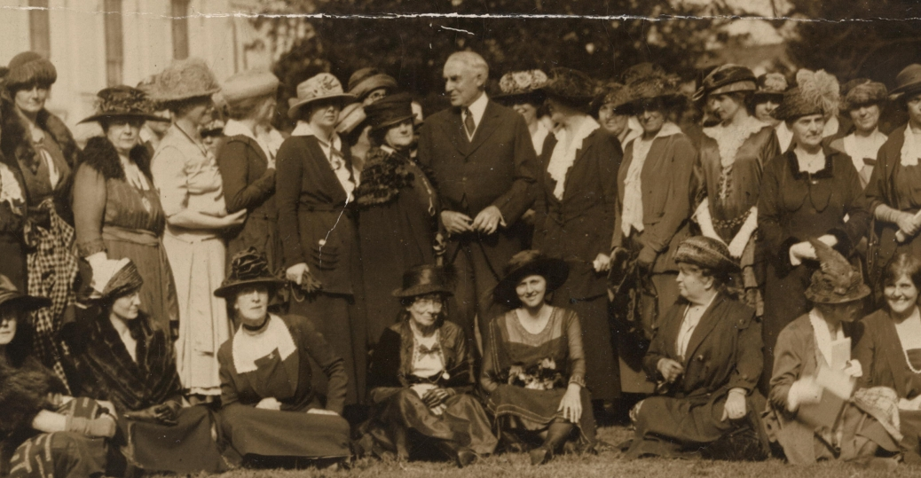 warren harding, president harding, women's rights, suffragists