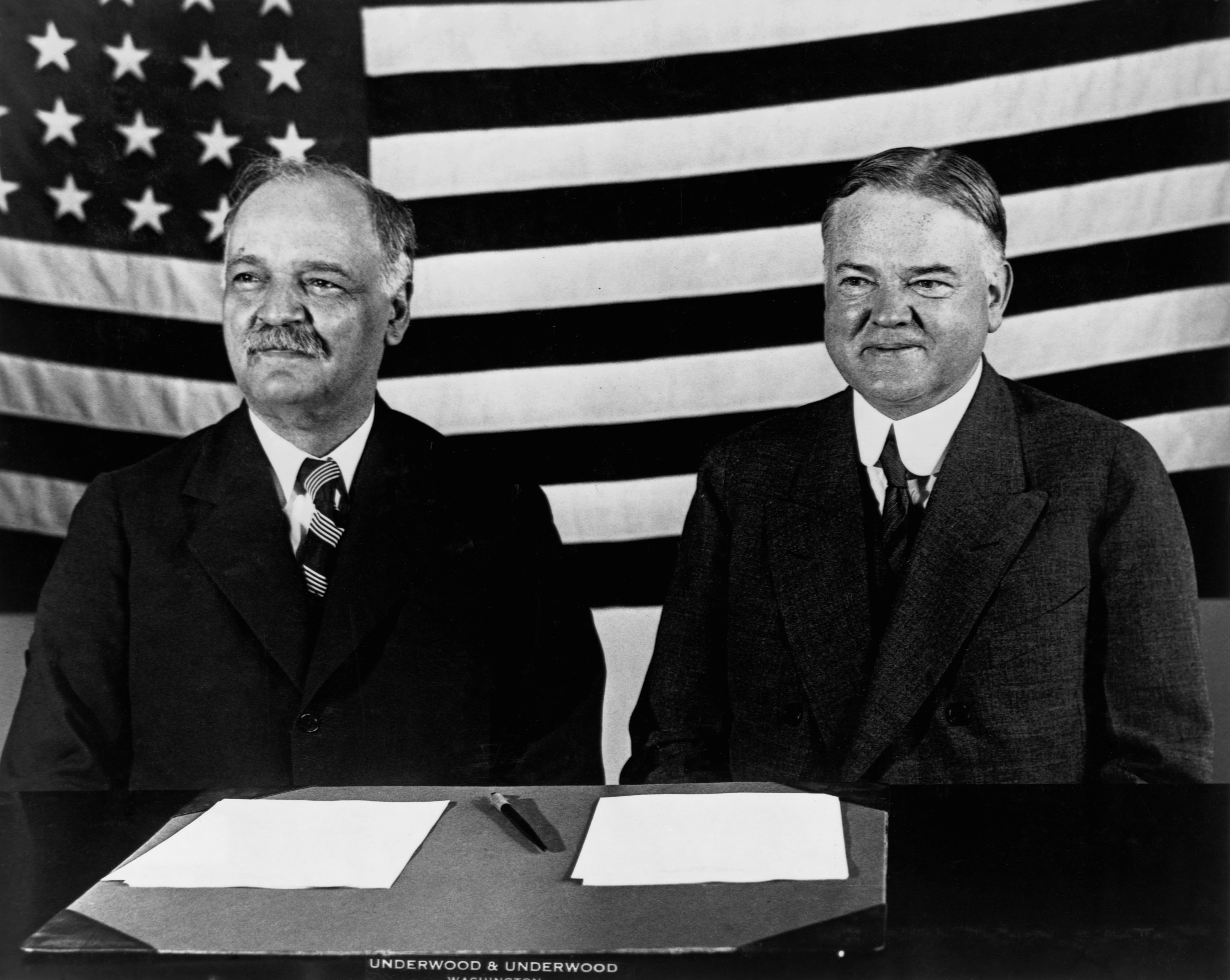 charles-curtis-and-herbert-hoover-campaigning - Herbert ...