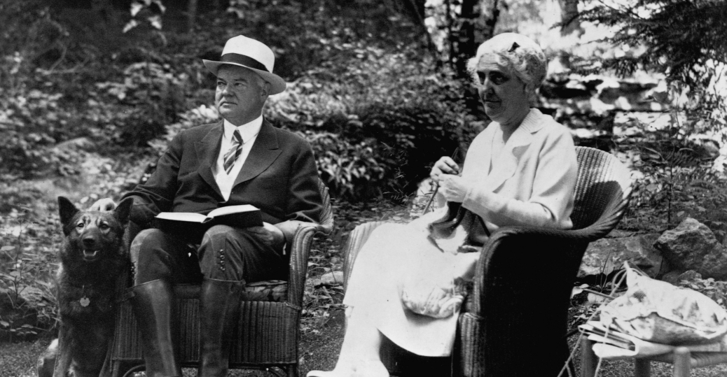 the great depression, president herbert hoover, lou henry hoover, hoover family, white house garden
