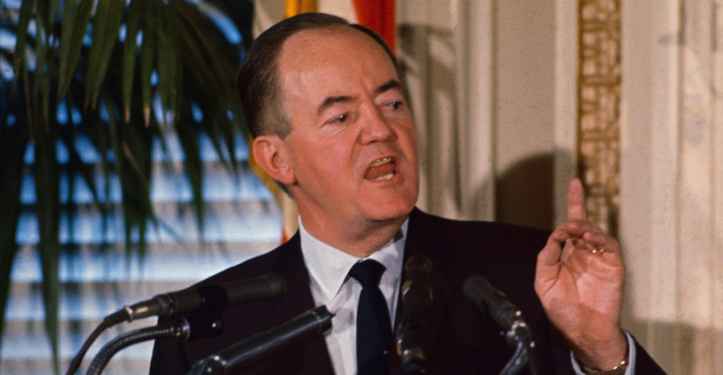 hubert humphrey, vice president hubert humphrey, national press club luncheon, north vietnam, the vietnam war