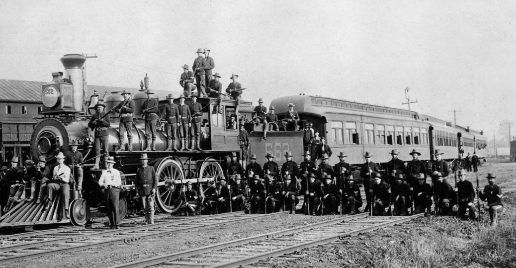 infantry company, infantry company c, president cleveland, 15th united states infantry company, railroad strike, pullman palace car company