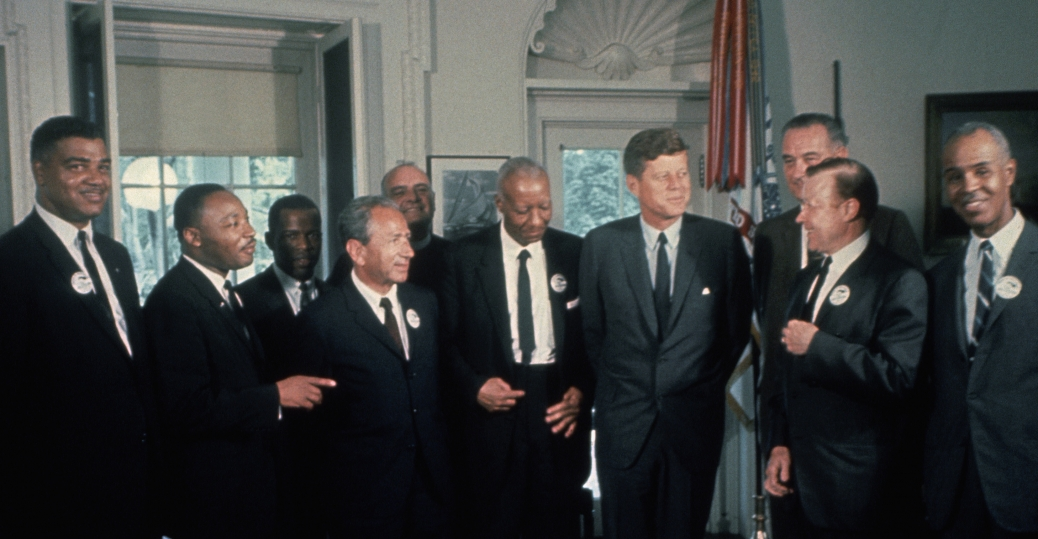 civi rights leaders, jfk, john f. kennedy, lyndon johnson, martin luther king jr, march on washington, civil rights