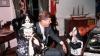 president kennedy, john f. kennedy, jfk, john jr. kennedy, caroline kennedy, the oval office, halloween, costumes, children, kennedy's on halloween, 1963