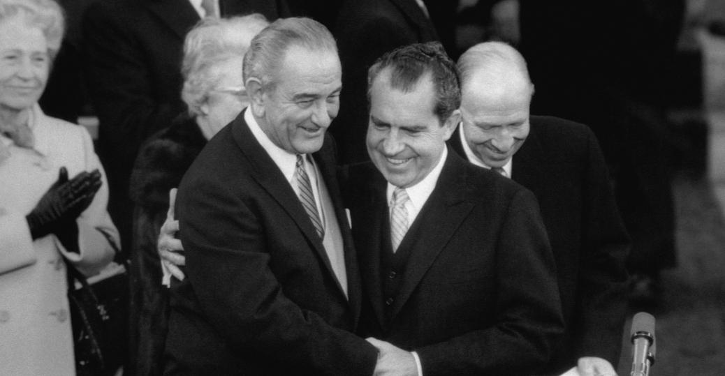 richard nixon, president johnson, lyndon b. johnson, 1969, inauguration ceremonies