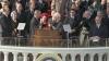 1964, lbj inauguration, president lyndon b. johnson, chief justice earl warren, hubert h. humphrey