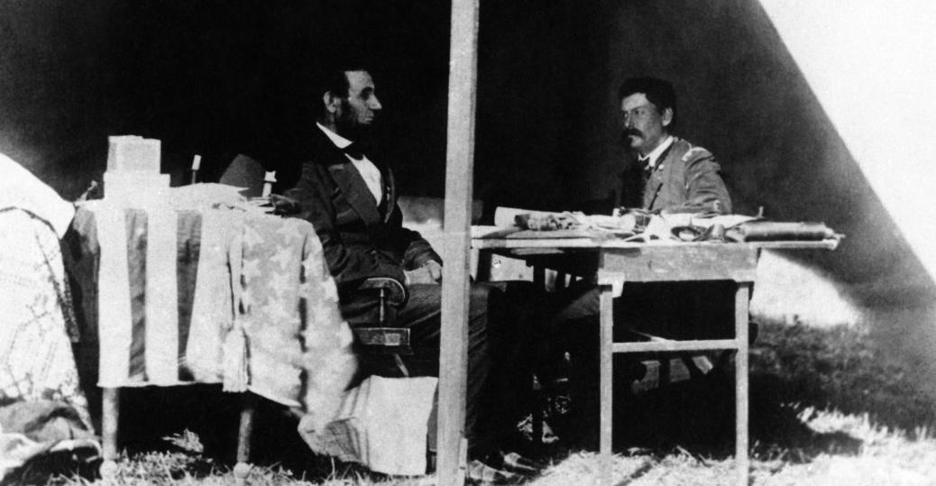 abraham lincoln, president abraham lincoln, general george mcclellan, antietam, battle of antietam, the civil war, 1862