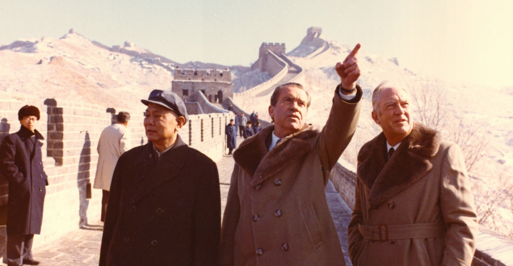 president nixon, richard nixon, the great wall of china
