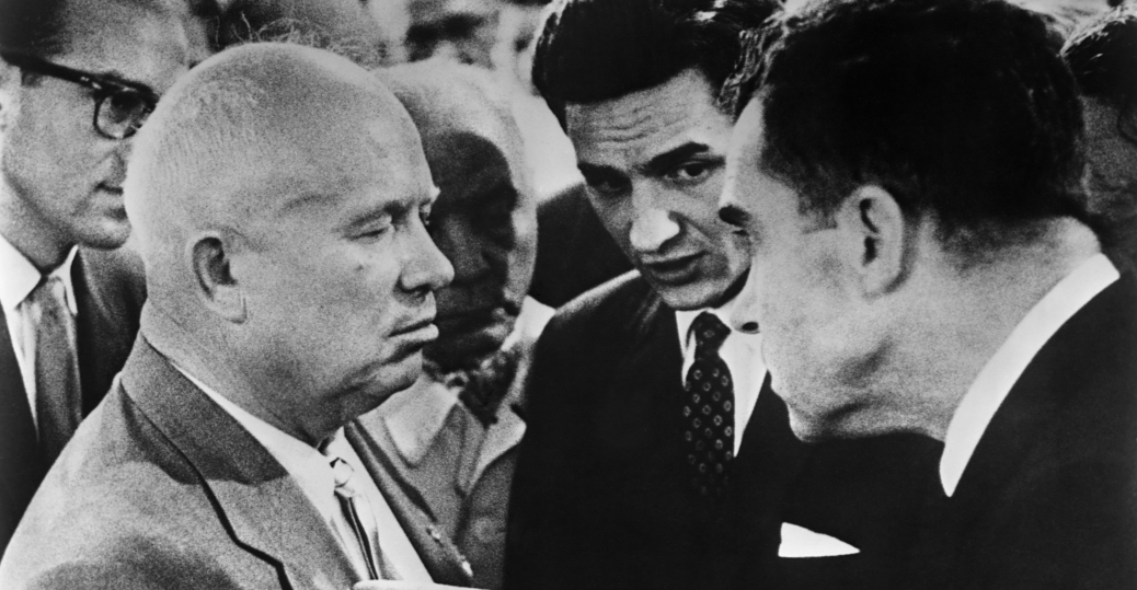richard nixon, nikita khrushchev, kitchen debate, sokolniki park