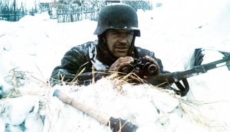 A soldier in the snow during Operation Barbarossa