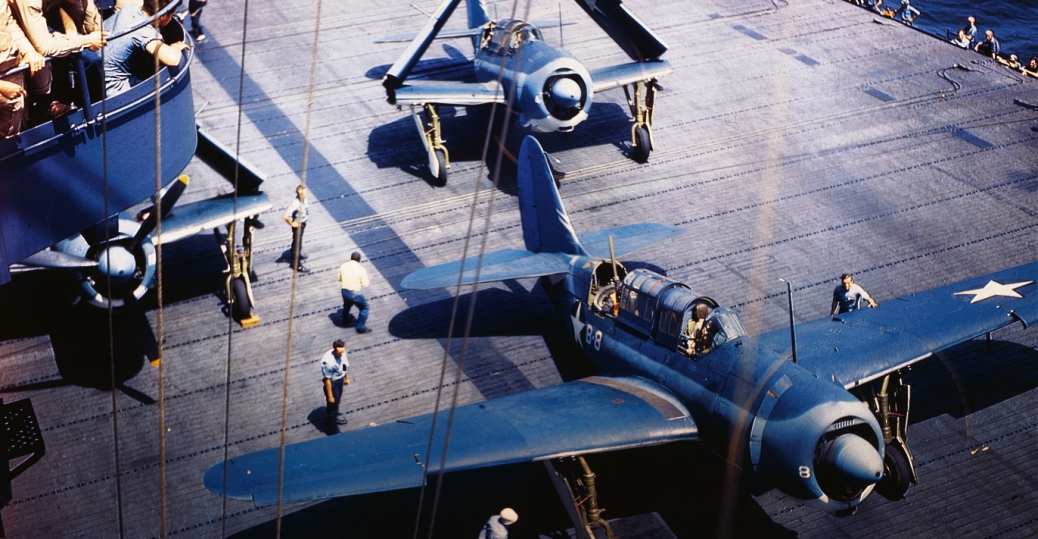 navy helldiver planes, aircraft carrier, world war II, world war II aircraft