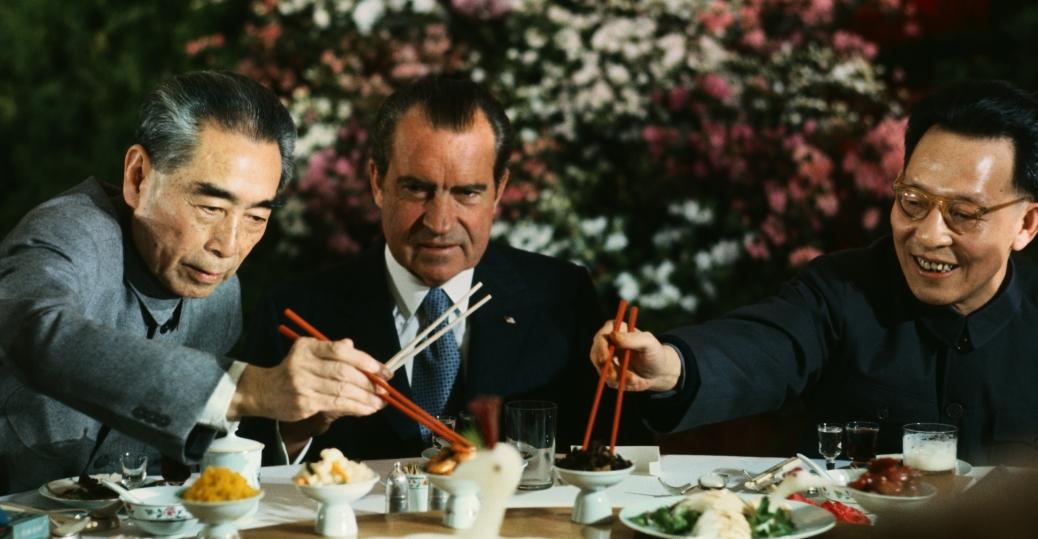 zhpu enlai, communist leaders, the cold war, president nixon, shanghai, china, Zhou Enlai, Zhang Chunqiao, richard nixon, the chinese revolution