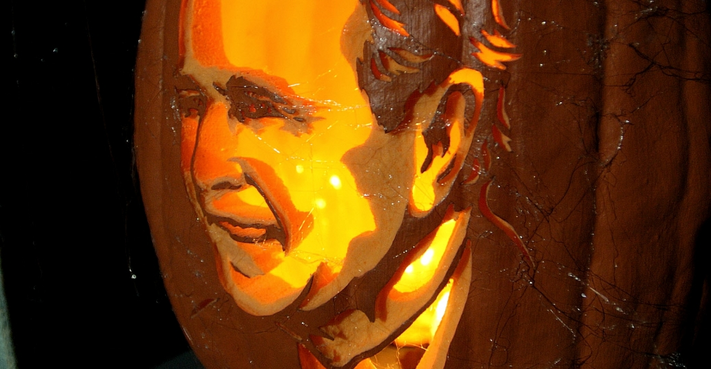 jack o'lantern, former presidents, presidents of the united states, george bush, lisa barberette, philadelphia, pennsylvania, heads of state, nightmare on broad street, halloween, pumpkins